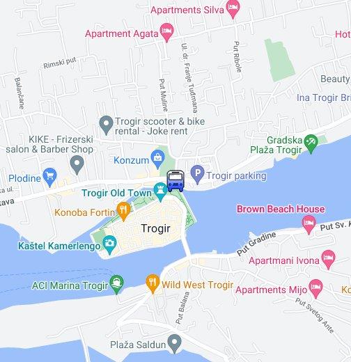 Autobusni Kolodvor Trogir Google My Maps
