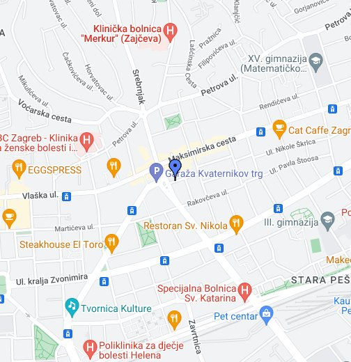 Zagreb Kvaternikov Trg Google My Maps