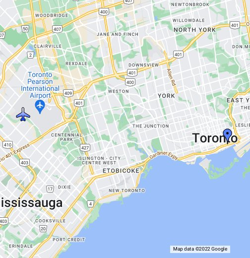Toronto (Lester B Pearson) Int'l Airport - Google My Maps on