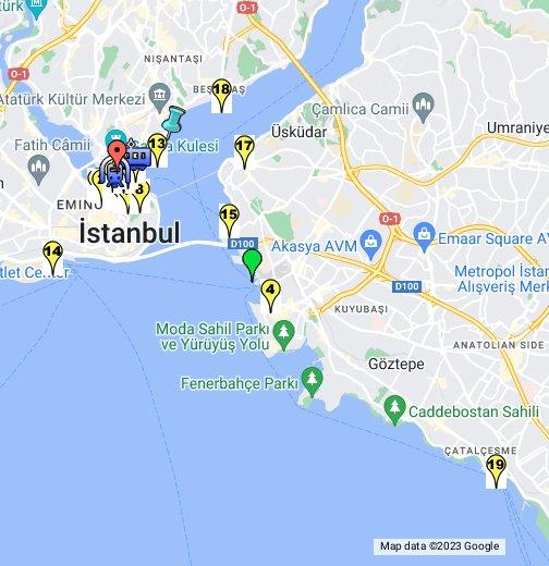 Ferryboat Docks in Istanbul, Turkey - Google My Maps