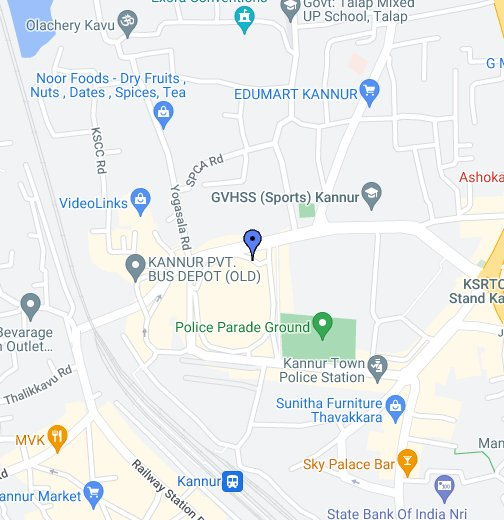 Johnsons Opticals Kannur - Kannur map