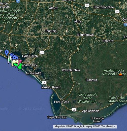 Map Panama City Panama City Beach, FL   Google My Maps