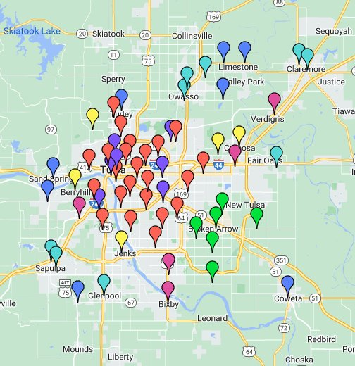 Google Fire Map 2018 Tulsa Area Fire Station Map   Google My Maps