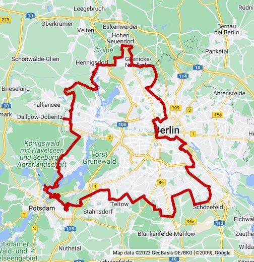 deutsche mauer karte Die deutsche Teilung   Berliner Mauer   Google My Maps