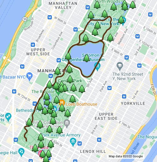 Central Park - Google My Maps on