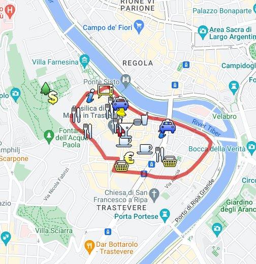 Trastevere Rome Map