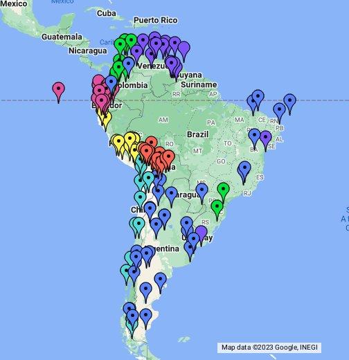 America Del Sur Google My Maps