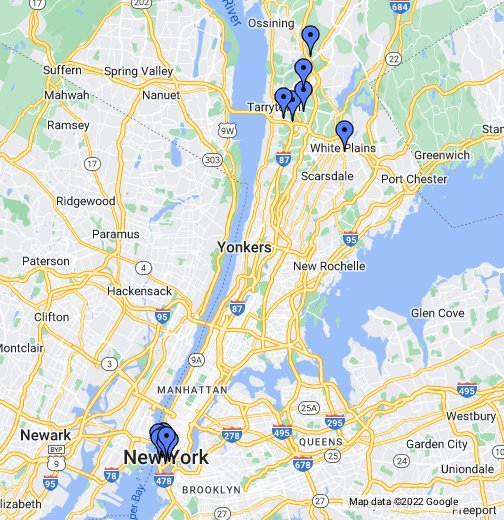Pace University Pleasantville Campus Map.Pace University Nearby Hotels Google My Maps