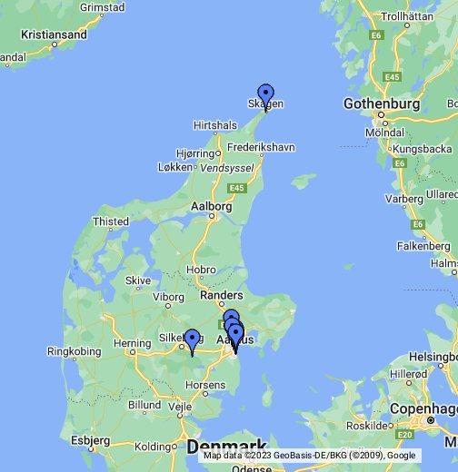 dänemark auf der karte Standorte in Dänemark   Google My Maps