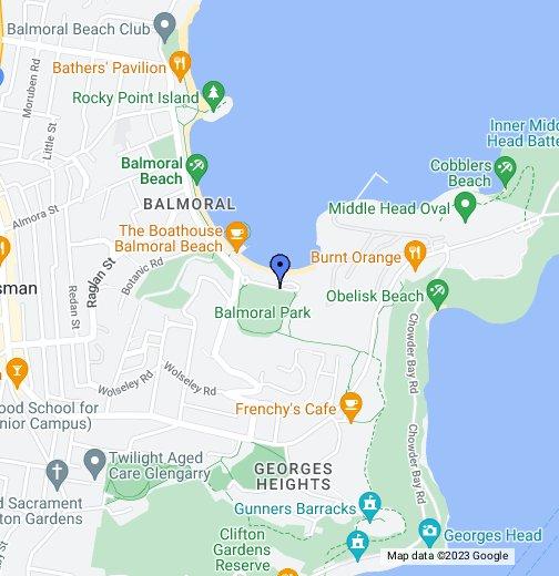 Balmoral Beach Map Balmoral Sailing School   Google My Maps Balmoral Beach Map