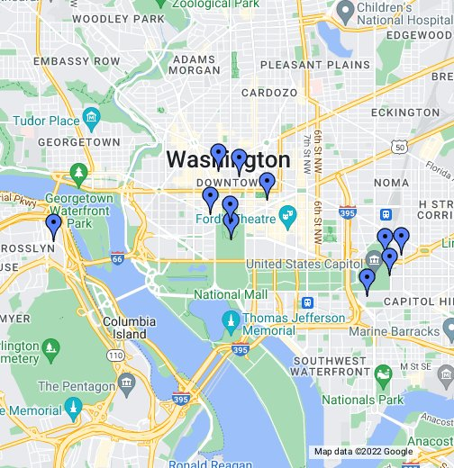 georgetown dc map D.C.'s Fake Twitterati   Google My Maps