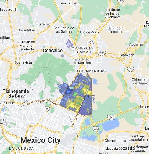 Ecatepec colonias - Google My Maps