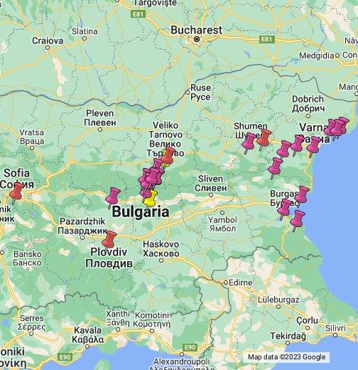 Karta Na Bulgaria.Bulgaria Google My Maps