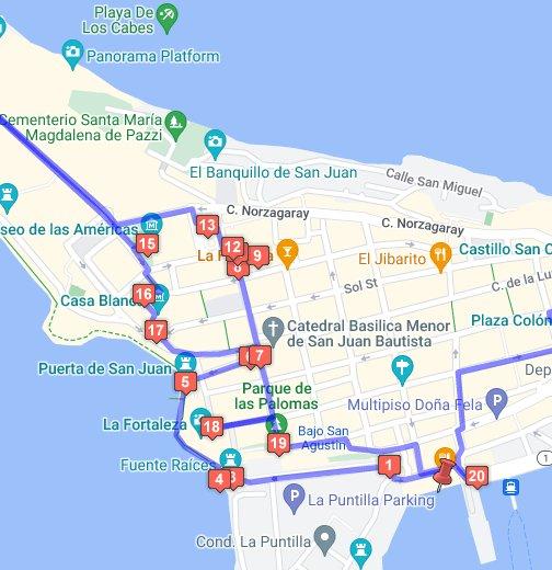 Puerto Rico Walking Tour Of Old San Juan Google My Maps