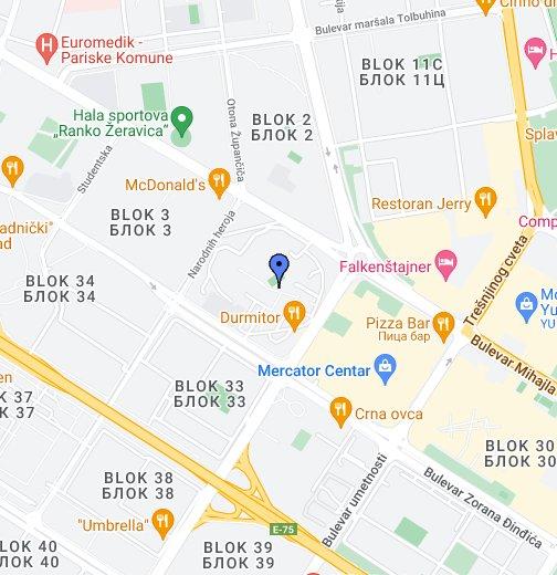 mapa blokova novi beograd КОПА ФОНТАНА   НОВИ БЕОГРАД   БЛОК 1 – Моје Google мапе mapa blokova novi beograd