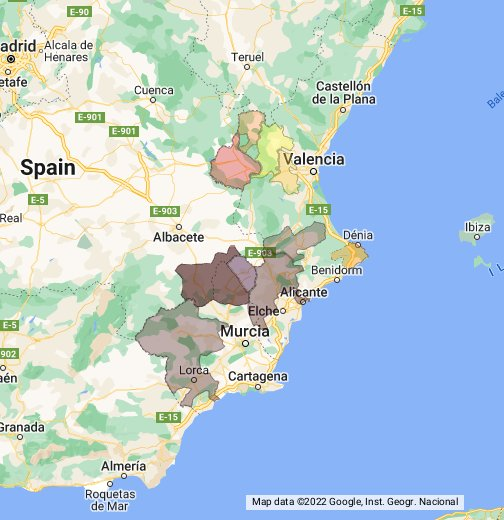 Google Spain Map.Spain Levante Google My Maps