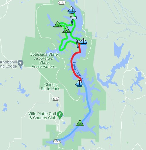 Chicot State Park Canoe Trail System - Google My Maps on