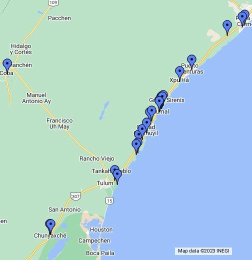 Akumal Bay & Half Moon Bay, Mexico - Google My Maps