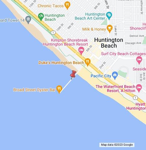 Huntington Beach Map Huntington Beach California   Google My Maps