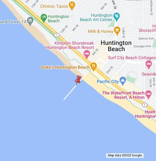 Map Of Huntington Beach Huntington Beach California   Google My Maps