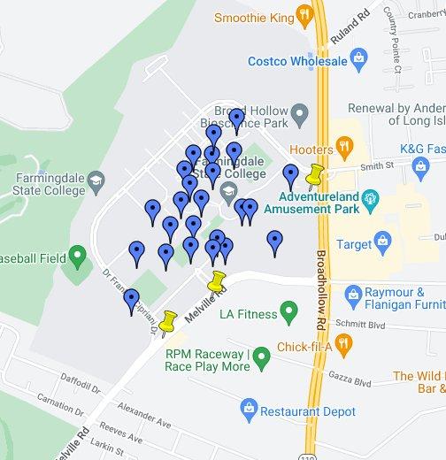 Farmingdale State College Google My Maps
