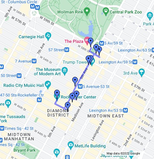 Th Avenue Shopping Map on
