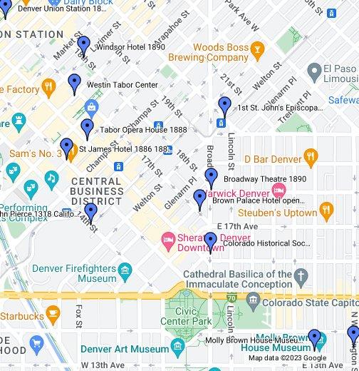 Ej Phillips Denver Co 1883 1890 Google My Maps