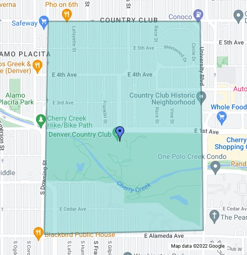 Denver Country Club Neighborhood - Google My Maps on