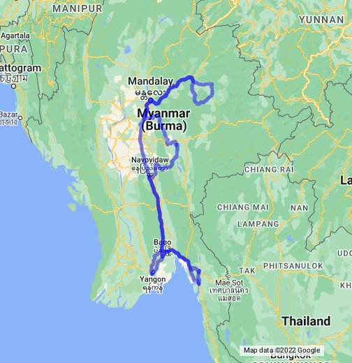 Myanmar - Google My Maps