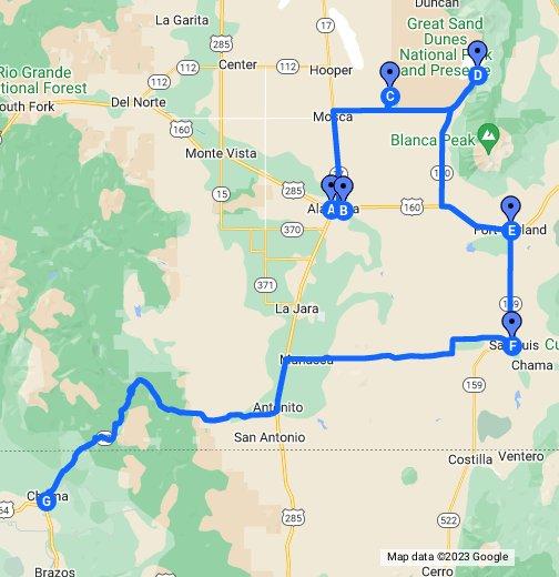 San Luis Valley, Colorado - Google My Maps