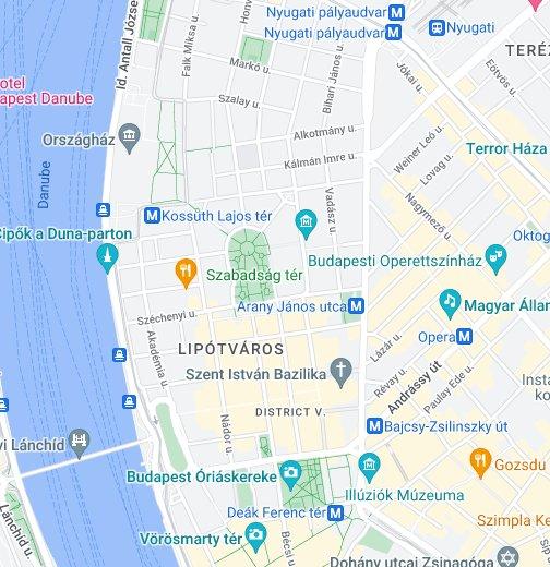 budapest térkép vörösmarty tér Vígszínház és Pesti Színház – Google Saját térképek budapest térkép vörösmarty tér