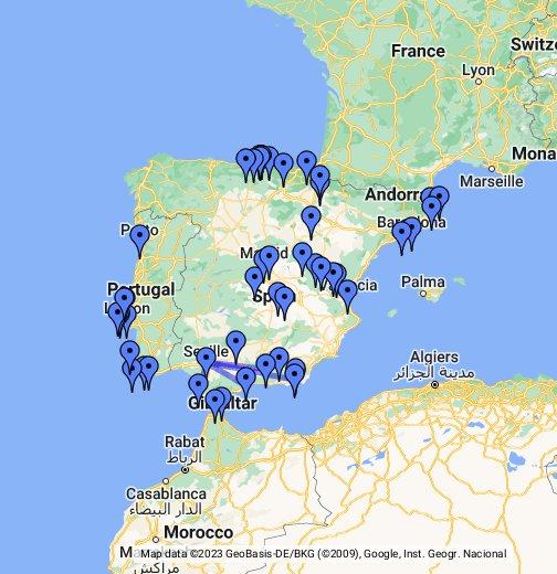 Portogallo Spagna Cartina.Spagna E Portogallo Google My Maps