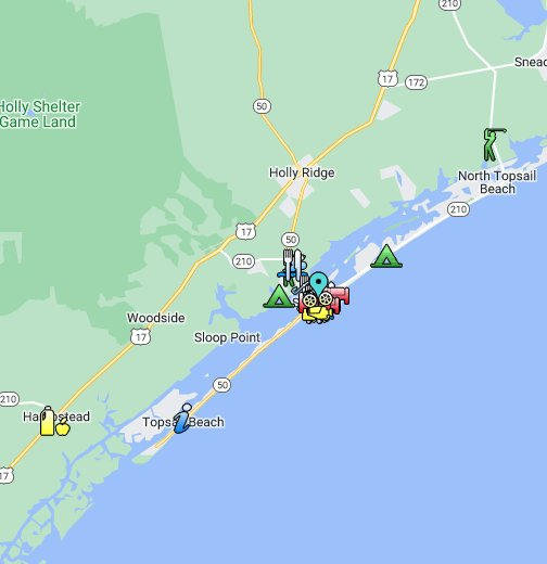 Topsail Island Guide - Google My Maps on topsail island nc beach, map of topsail island nc, map of topsail island north carolina beaches, map of topsail nc area,