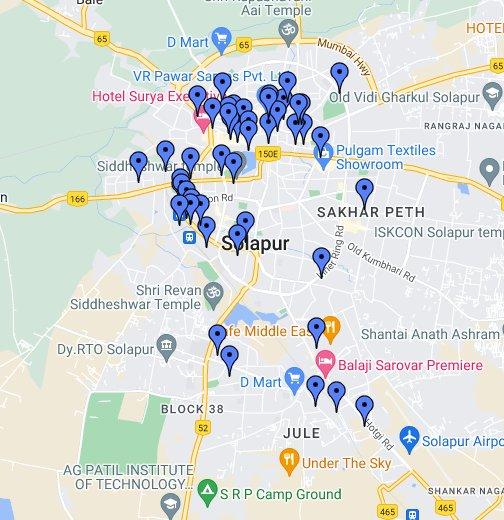 Credai Solapur - Solapur map