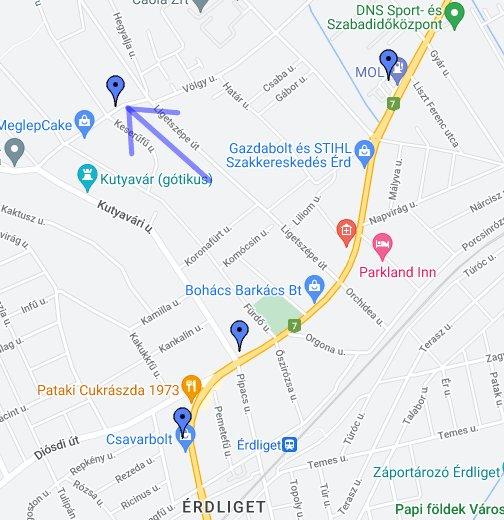 google térkép érd Liget Ház, Érd, Tárnoki út 6. – Google Saját térképek google térkép érd