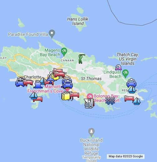 St Thomas - USVI - Google My Maps
