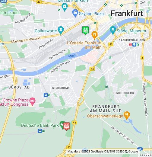 frankfurt map google my maps. Black Bedroom Furniture Sets. Home Design Ideas