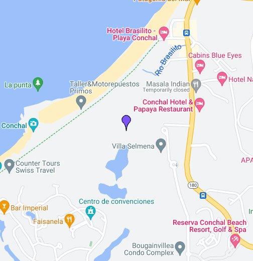 Playa Conchal Map The Westin Golf Resort & Spa, Playa Conchal   Google My Maps