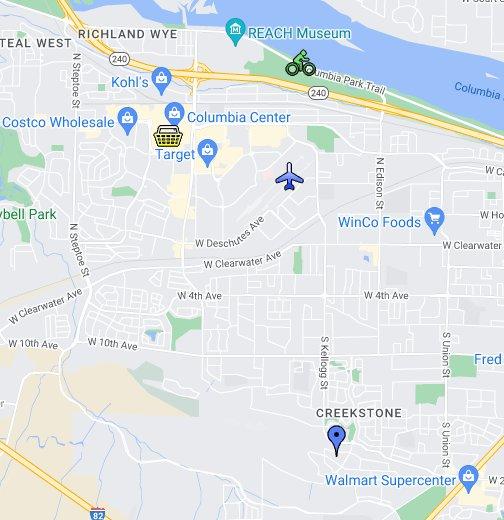 Panoramic Heights, Kennewick Washington - Google My Maps