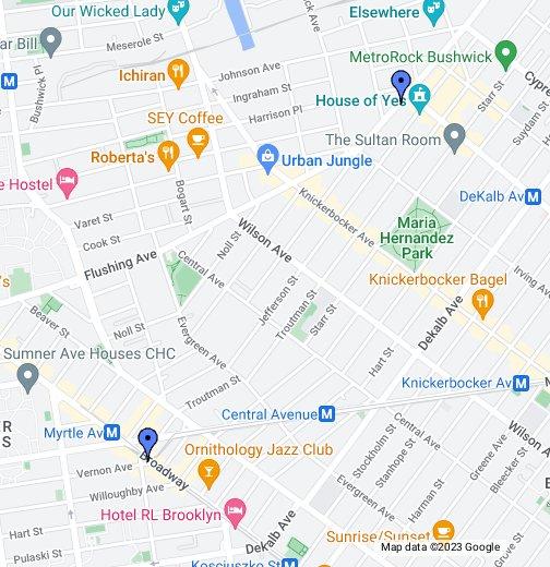Bushwick Brooklyn Map Bushwick, Brooklyn   Google My Maps