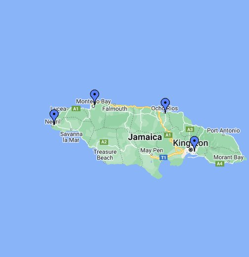 Detailed Map Of Jamaica - Jamaica map