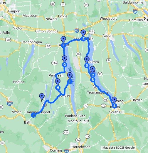 New York\'s Finger Lakes - Google My Maps