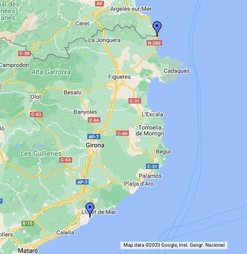 Costa va Spain - Google My Maps on