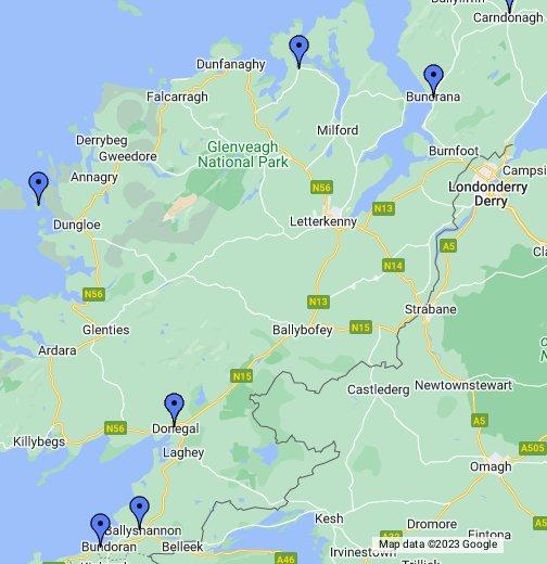 County Donegal Ireland Google 我的地圖