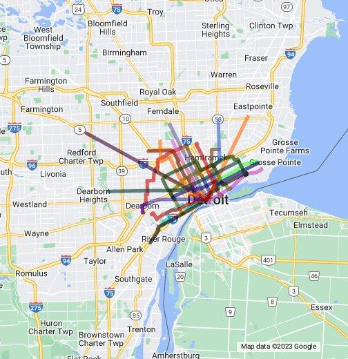 Detroit Street Railways - Google My Maps on