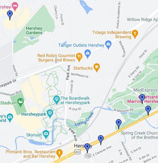 Hershey, Pennsylvania - Google My Maps