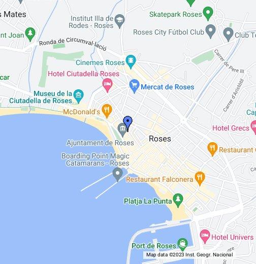 Map Of Spain Google Maps.Roses Costa Brava Google My Maps