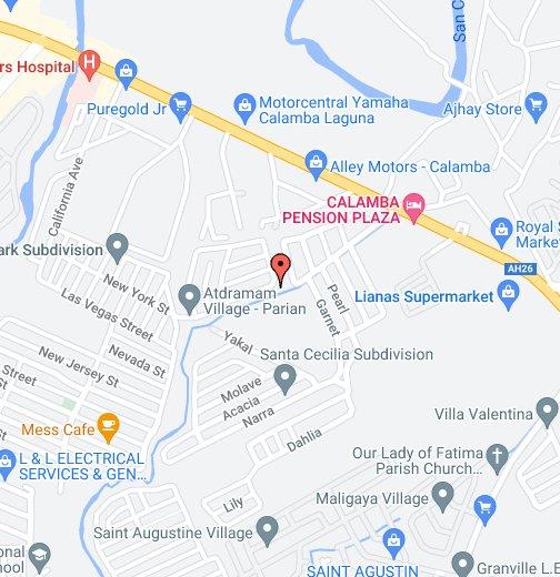 Dr Jose P Rizal Calamba Lodge - Calamba city map