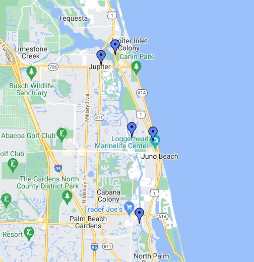 Picture Of Florida Map JUPITER, FLORIDA   Google My Maps