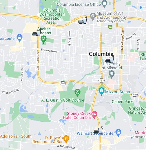Sub Shops in Columbia - Google My Maps